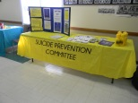 Suicide Prevention Committee booth