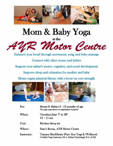 Mom  Baby Yoga Poster