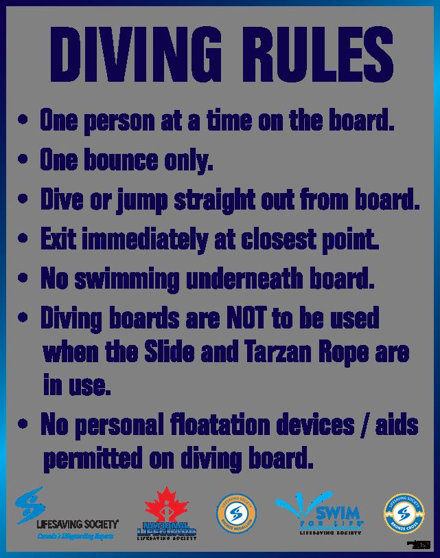 Rules Regulations Etiquette Aquatic Woodstock Nb